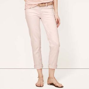 Ann Taylor Loft Pink Modern Cuffed Crop Jeans